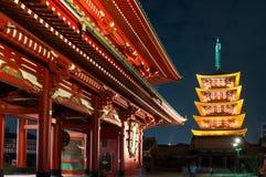 Pagoda de Cinq-histoire dans le temple d'Asakusa Sensoji - Tokyo, Japon Photographie stock
