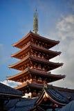 Pagoda de cinq histoires Photographie stock libre de droits