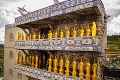 Pagoda de cristal de la porcelana de Linh Phuoc en el lat de DA, Vietnam Imagenes de archivo