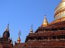 Pagoda de Dhammayazika (construído 1196 pelo rei Narapatisithu) Fotos de Stock Royalty Free