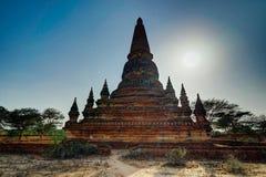 Pagoda de Dhammayazika del templo viejo en Bagan Myanmar foto de archivo libre de regalías