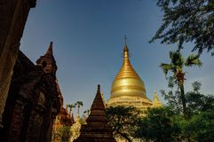 Pagoda de Dhammayazika del templo viejo en Bagan Myanmar imágenes de archivo libres de regalías