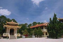 Pagoda de fuite de Truc, Dalat, Vietnam photos libres de droits