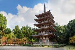 Pagoda de Goujonoto au temple de Daigo-JI à Kyoto photos libres de droits