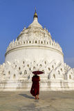 Pagoda de Hsinbyume à Mandalay, Myanmar image libre de droits