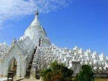 Pagoda de Hsinbyume dans Mingun, Mandalay, Myanmar images libres de droits