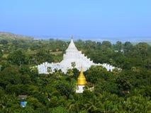 Pagoda de Hsinbyume dans Mingun, Mandalay, Myanmar images stock