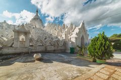 Pagoda de Hsinbyume, Mingun, région de Sagaing près de Mandalay, Myanmar Image libre de droits