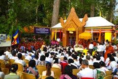 Pagoda de jour de Phcum Ben à Phnom Penh Photos libres de droits
