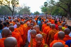 Pagoda de jour de Phcum Ben à Phnom Penh Photo libre de droits