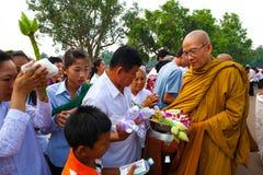 Pagoda de jour de Phcum Ben à Phnom Penh Photographie stock libre de droits
