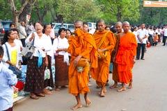 Pagoda de jour de Phcum Ben à Phnom Penh Image libre de droits