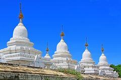 Pagoda de Kuthodaw, Mandalay, Myanmar photo libre de droits