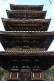 pagoda de la Cinco-historia del ji de Ninna en Kyoto imagen de archivo