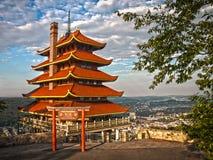 Pagoda de la lectura foto de archivo libre de regalías