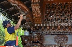 Pagoda de la paz de Nepal - Brisbane Queensland Australia Foto de archivo libre de regalías