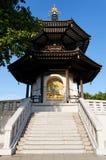 Pagoda de la paz en el parque de Battersea (Londres) Fotos de archivo libres de regalías