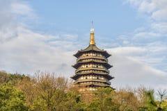 Pagoda de Leifeng image stock