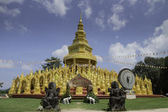 500 pagoda1 de oro Imágenes de archivo libres de regalías