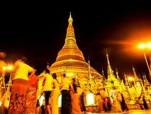 Pagoda de oro de Shwedagon, Rangún, Myanmar Fotografía de archivo