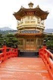 Pagoda de oro, jardín de Nan Lian Imagenes de archivo