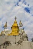 Pagoda de oro Phu Si en Luangprabang, Laos Imagen de archivo libre de regalías