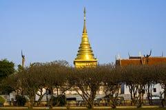 Pagoda de oro, Tailandia Foto de archivo libre de regalías
