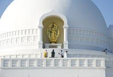 Pagoda de paix de Lumbini images libres de droits
