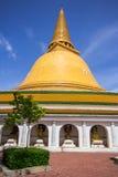 Pagoda de Phra Pathom Chedi, Nakhorn Pathom, Thaïlande Photographie stock libre de droits