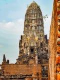 Pagoda de ratchaburana de Wat à Ayutthaya images libres de droits