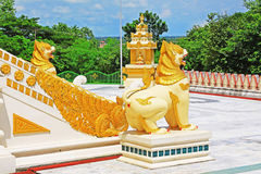 Pagoda de relique de dent de Bouddha, Yangon, Myanmar Images stock