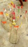 Pagoda de sable de la Thaïlande Photographie stock