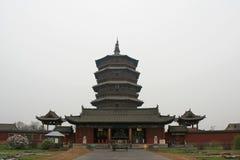 Pagoda de Sakyamuni de temple de Fogong - Yingxian - Chine Photos libres de droits