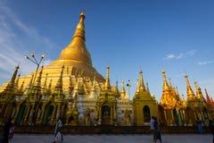 Pagoda de Shwedagon à Yangon, Myanmar Photos stock