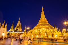 Pagoda de Shwedagon à Yangon, Myanmar Photo stock