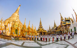 Pagoda de Shwedagon fotos de stock royalty free