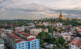 Pagoda de Shwedagon de Rangún, Myanmar Fotos de archivo libres de regalías