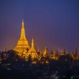 Pagoda de Shwedagon en la ciudad de Rangún Imágenes de archivo libres de regalías