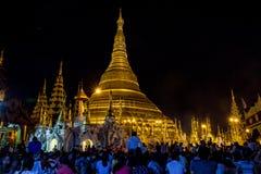 Pagoda de Shwedagon en Myanmar Imagen de archivo