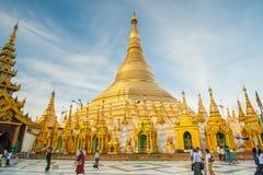 Pagoda de Shwedagon en Rangún, Myanmar Fotos de archivo libres de regalías