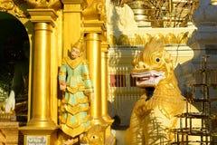 Pagoda de Shwedagon en Rangún, Myanmar imagen de archivo