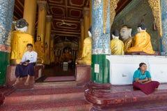 Pagoda de Shwedagon, Yangon Foto de archivo libre de regalías