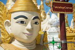 Pagoda de Shwedagon, Yangon Imagen de archivo libre de regalías