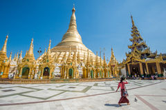 Pagoda de Shwedagon, Yangon Photo stock