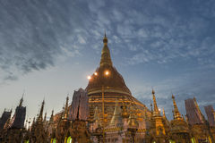 Pagoda de Shwegadon à Yangon photo libre de droits