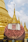 Pagoda de Shwemawdaw à Yangon, Myanmar Photo stock