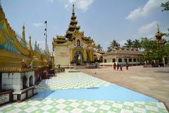 Pagoda de Shwemawdaw chez Bago, Myanmar Photos stock