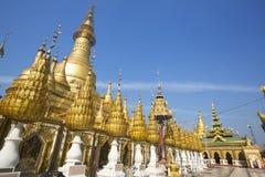 Pagoda de Shwesandaw imagen de archivo