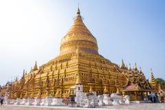 Pagoda de Shwezigon images libres de droits