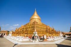Pagoda de Shwezigon Foto de archivo libre de regalías